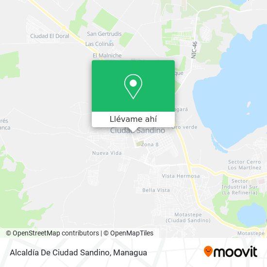 Mapa de Alcaldia De Ciudad Sandino