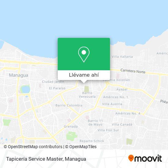 Mapa de Tapiceria Service Master