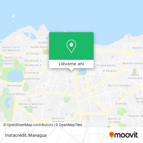 Mapa de Instacredit