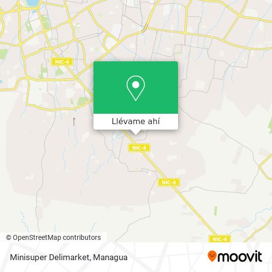 Mapa de Minisuper Delimarket