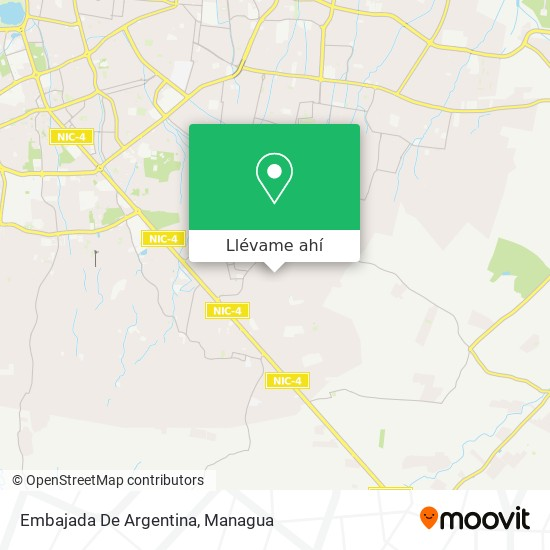Mapa de Embajada De Argentina