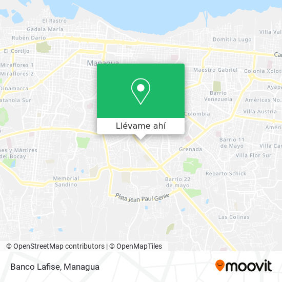 Mapa de Banco Lafise