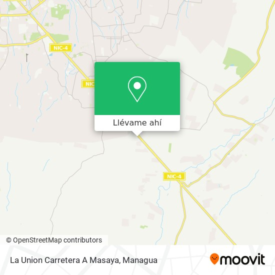 Mapa de La Union Carretera A Masaya