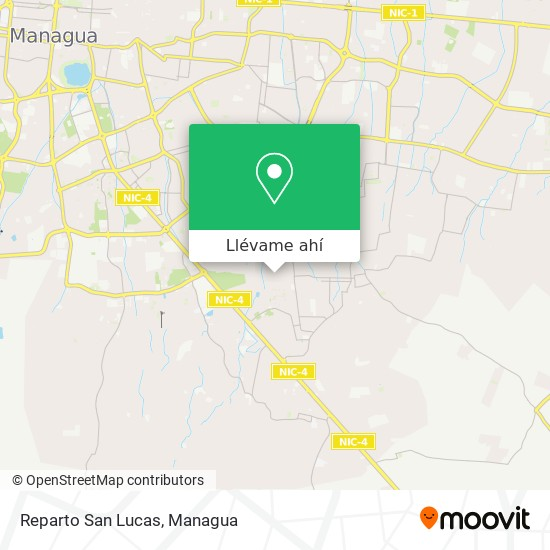 Mapa de Reparto San Lucas