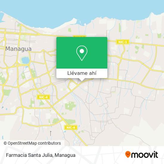 Mapa de Farmacia Santa Julia