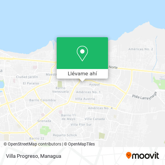 Mapa de Villa Progreso