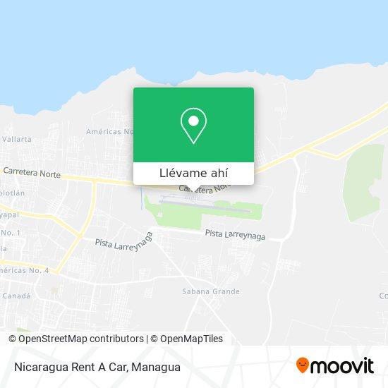 Mapa de Nicaragua Rent A Car