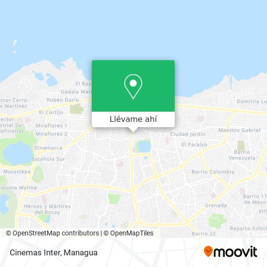 Mapa de Cinemas Inter