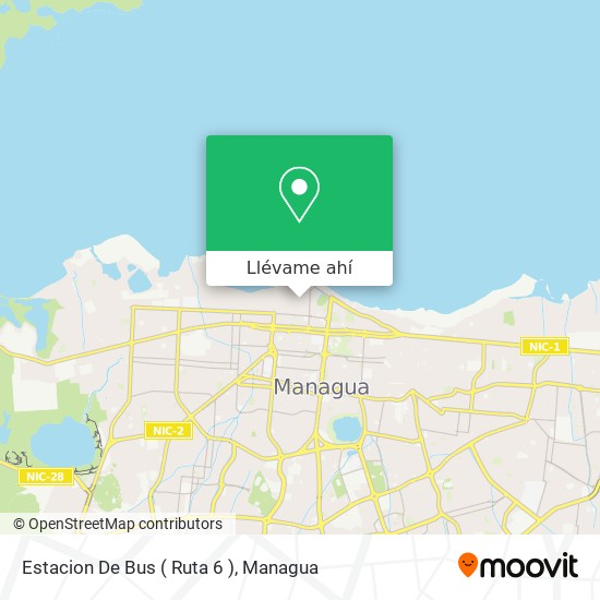 Mapa de Estacion De Bus ( Ruta 6 )
