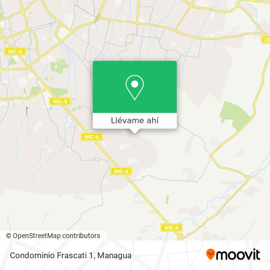 Mapa de Condominio Frascati 1