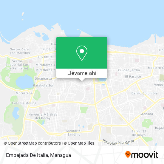 Mapa de Embajada De Italia