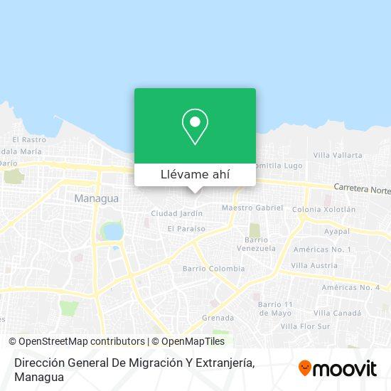 Mapa de Ministerio De Migracion Y Extranjeria