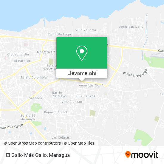 Mapa de El Gallo Más Gallo