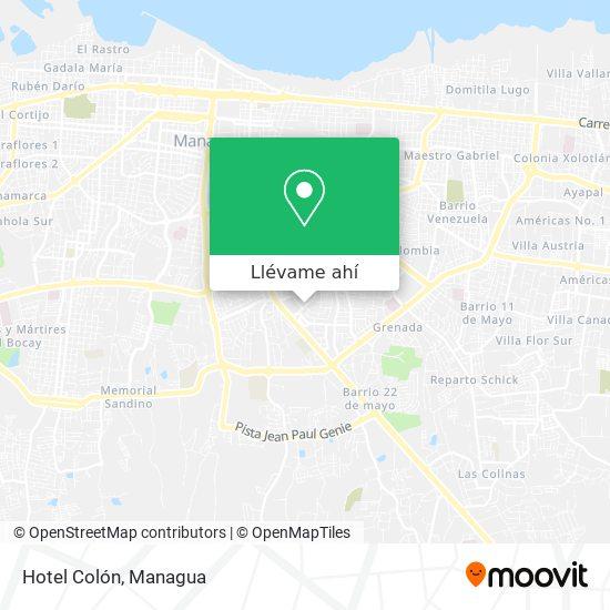 Mapa de Hotel Colón