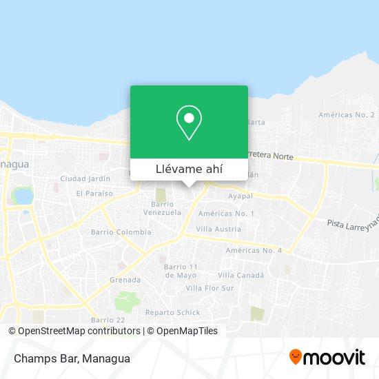 Mapa de Champs Bar