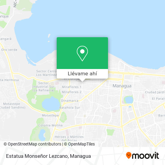 Mapa de Estatua Monseñor Lezcano