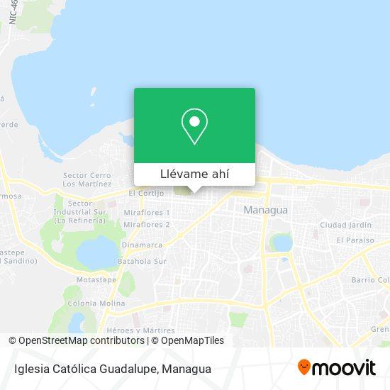 Mapa de Iglesia Catolica Guadalupe