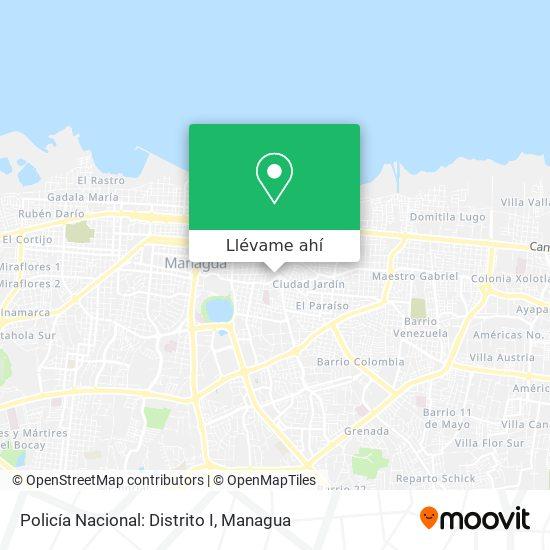 Mapa de Policía Nacional: Distrito I