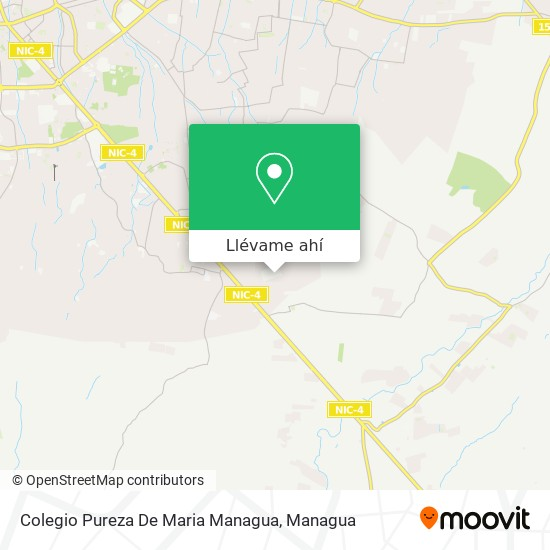 Mapa de Colegio Pureza De Maria Managua