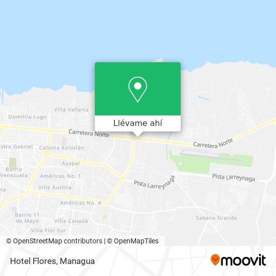 Mapa de Hotel Flores