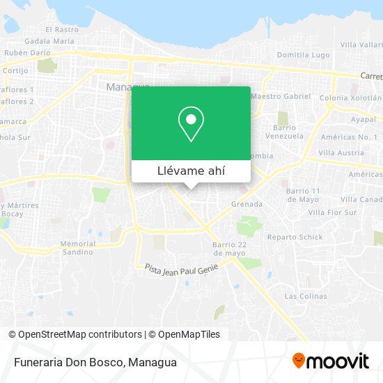 Mapa de Funeraria Don Bosco