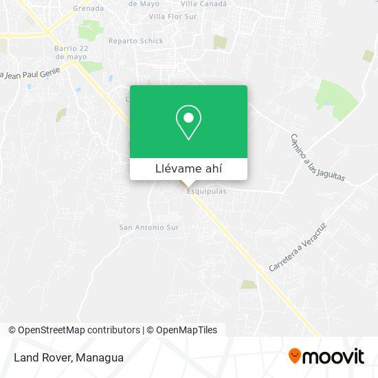 Mapa de Land Rover