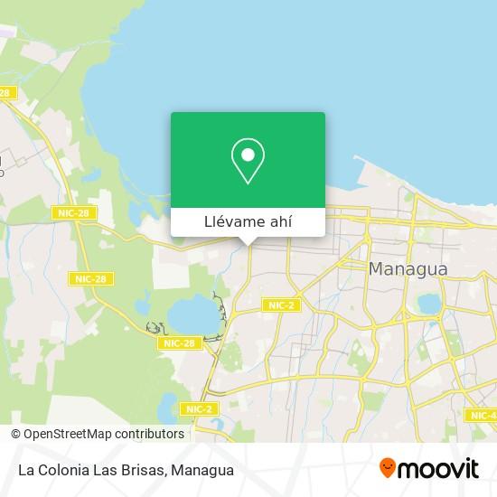 Mapa de La Colonia Las Brisas