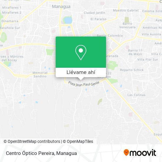 Mapa de Centro Óptico Pereira
