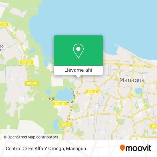 Mapa de Centro De Fe Alfa Y Omega
