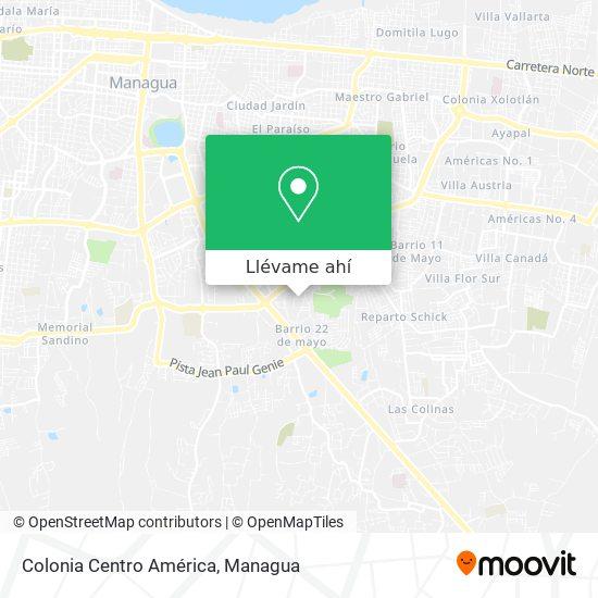 Mapa de Colonia Centro America