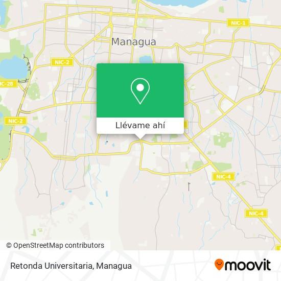 Mapa de Retonda Universitaria