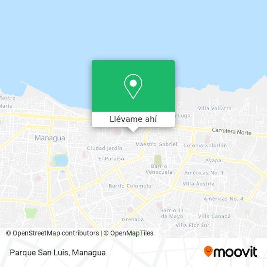 Mapa de Parque San Luis
