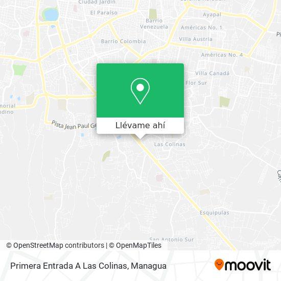 Mapa de Primera Entrada A Las Colinas