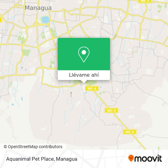 Mapa de Aquanimal Pet Place