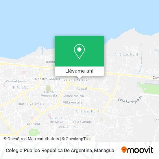 Mapa de Colegio Republica De Argentina