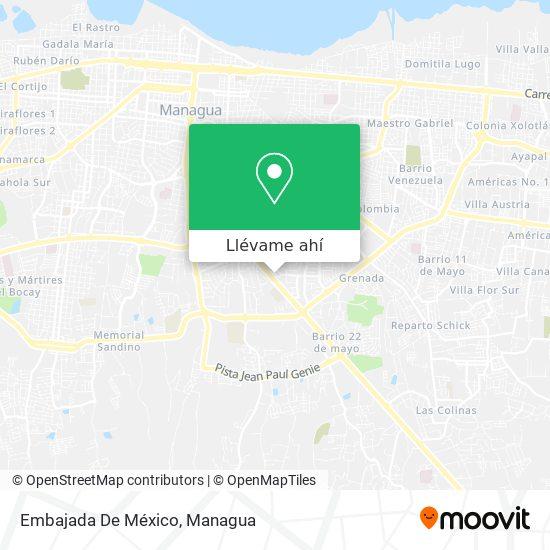 Mapa de Embajada De Mexico