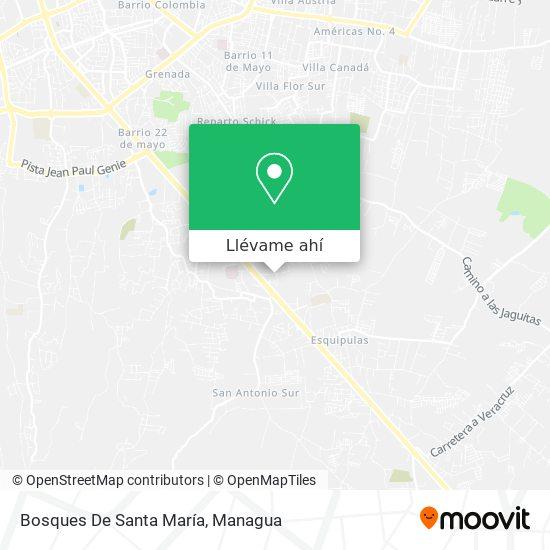 Mapa de Bosques De Santa María