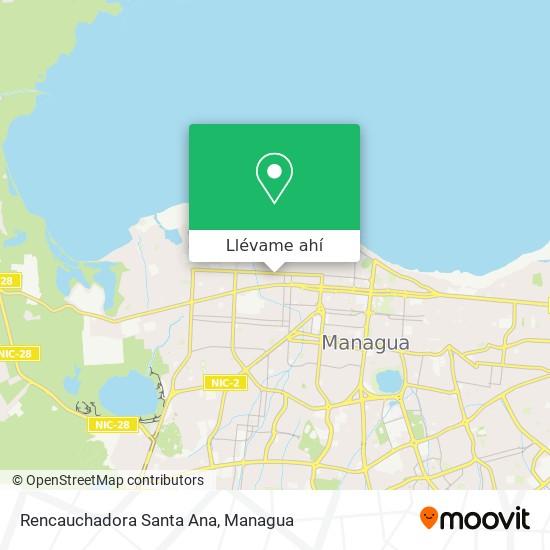 Mapa de Rencauchadora Santa Ana