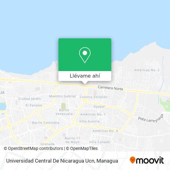 Mapa de Universidad Central De Nicaragua Ucn