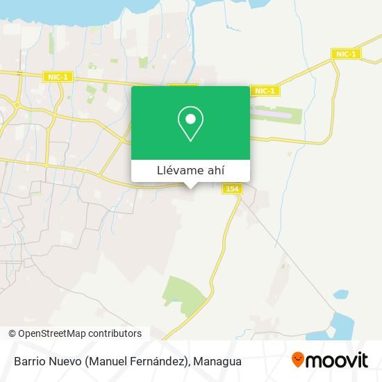 Mapa de Barrio Nuevo (Manuel Fernández)