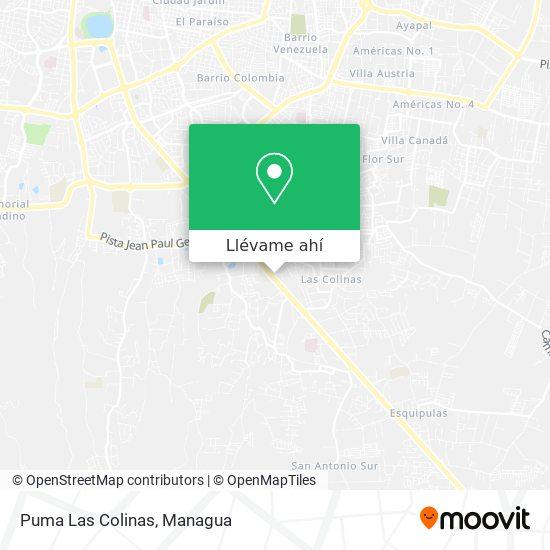 Mapa de Puma Las Colinas