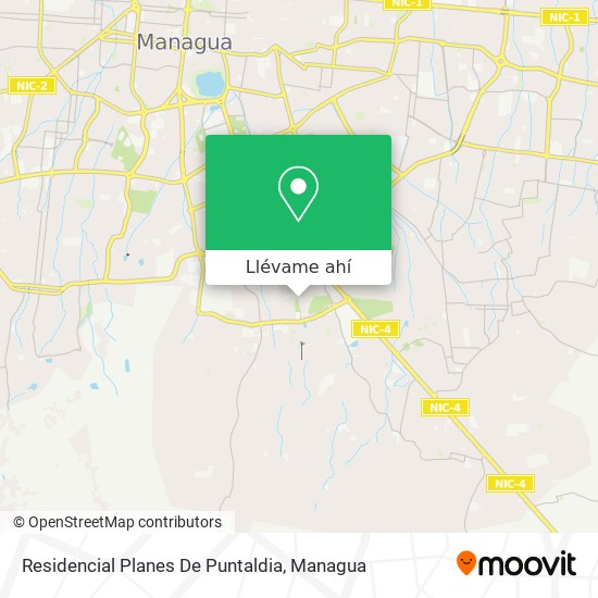 Mapa de Residencial Planes De Puntaldia