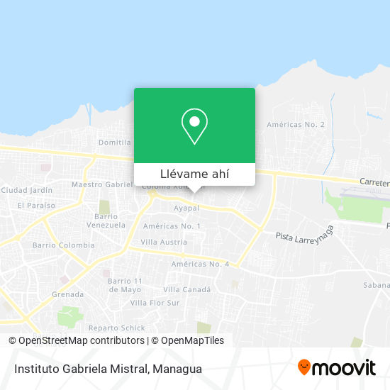 Mapa de Instituto Gabriela Mistral