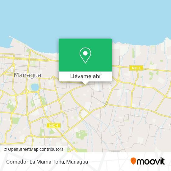 Mapa de Comedor La Mama Tona
