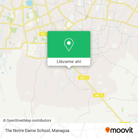 Mapa de The Notre Dame School