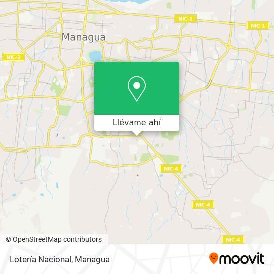 Mapa de Loteria Nacional