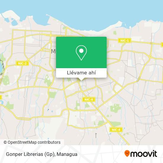 Mapa de Gonper Librerias (Gp)