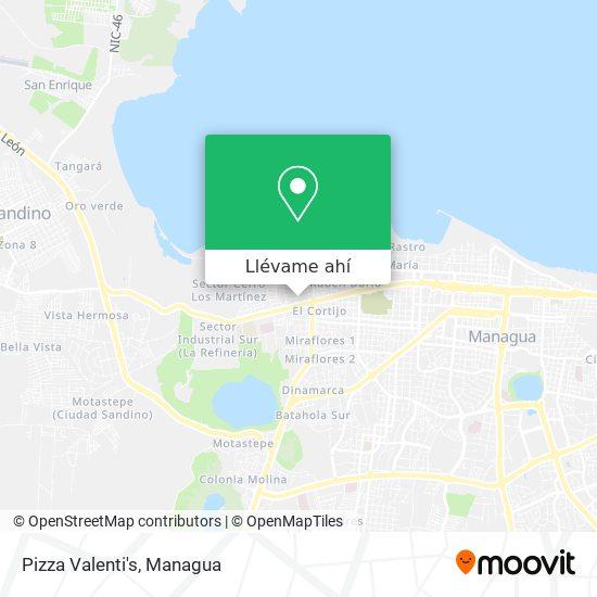 Mapa de Pizza Valenti's