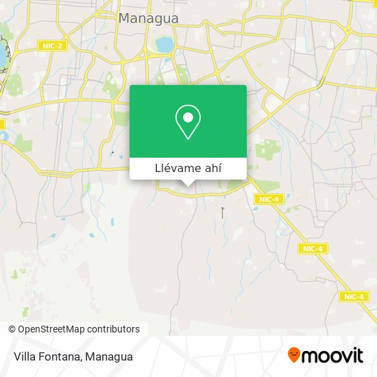 Mapa de Villa Fontana