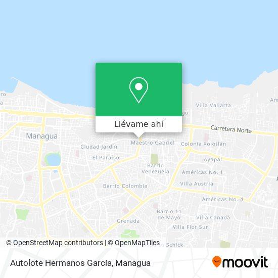 Mapa de Autolote Hermanos Garcia
